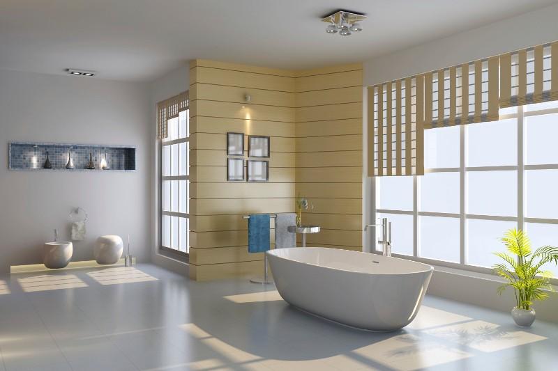 salle de bain cloison encastre hydrofuge