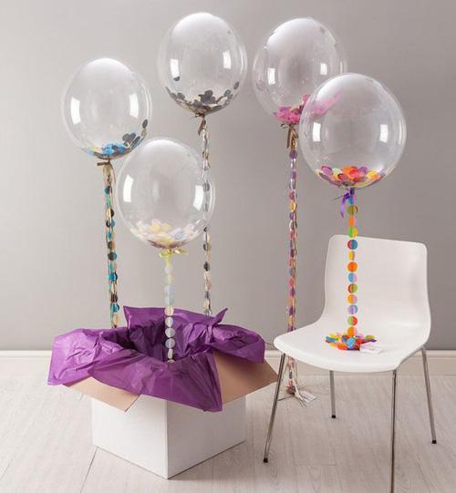 Ballons avec confettis