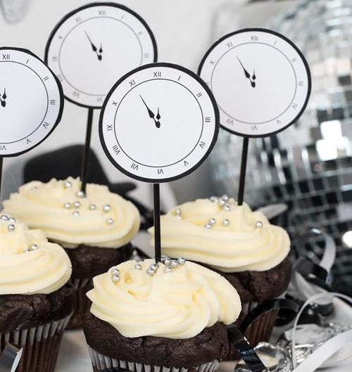 Horloges DIY sur cupcakes