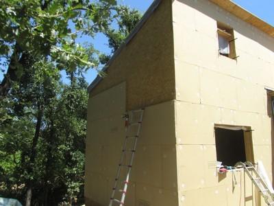 Chantier d 39 extension agrandissement en bois habitatpresto for Isolation thermique exterieure