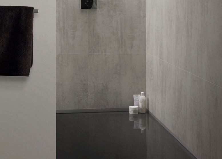 Panneaux muraux salle de bain imitation carrelage
