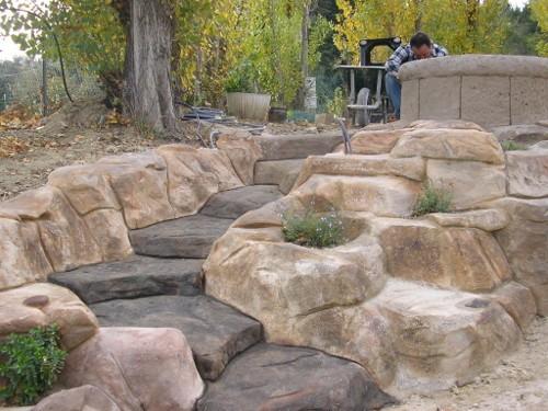 Bassin de jardin imitation pierre bassin de jardin for Pierre pour bassin de jardin