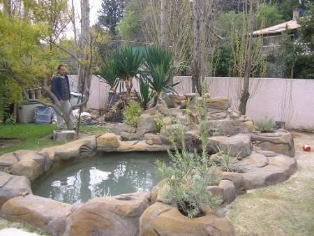 chantier d 39 am nagement d 39 un bassin de jardin habitatpresto. Black Bedroom Furniture Sets. Home Design Ideas