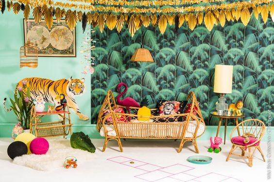 Chambre enfant thème jungle réalisée par WilBirdsCollectives