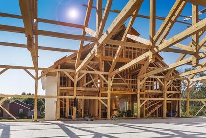 maison bois poteau poutre
