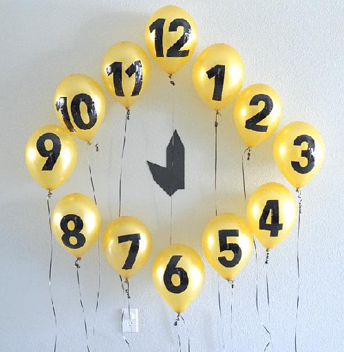 Horloge avec ballons