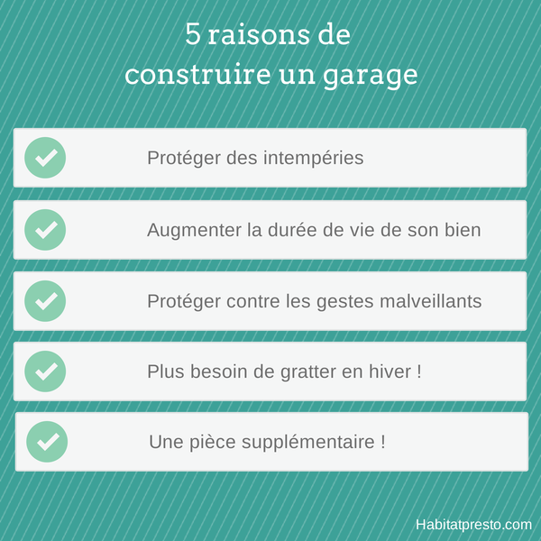 construire un garage raisons