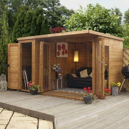 Abri de jardin avec terrasse