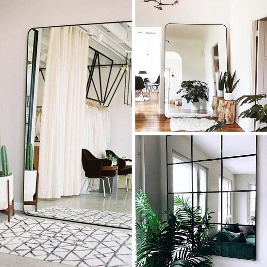 Agrandir un salon avec des miroirs