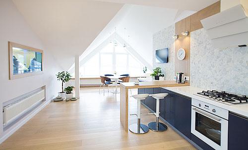 plan appartement sous les toits