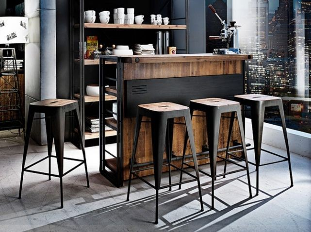 8 bonnes raisons d 39 am nager un bar dans la cuisine. Black Bedroom Furniture Sets. Home Design Ideas