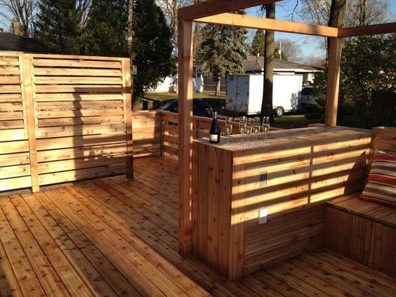 Id es d 39 am nagement de bar de jardin habitatpresto for Bar de jardin en bois
