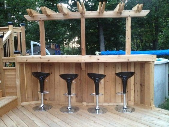 Id es d 39 am nagement de bar de jardin habitatpresto for Bar exterieur en bois