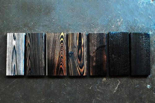 Coloris bardage bois brûlé