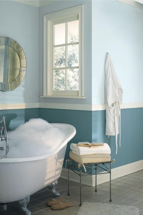 salle de bain bleue Benjamin Moore
