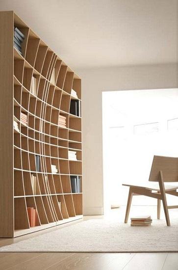Bibliothèque incurvée