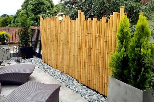 Brise-vue en bambou