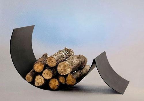 idée stockage bûches bois