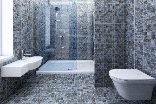 Beautiful mosaique salle de bain sol contemporary for Emploi carrelage