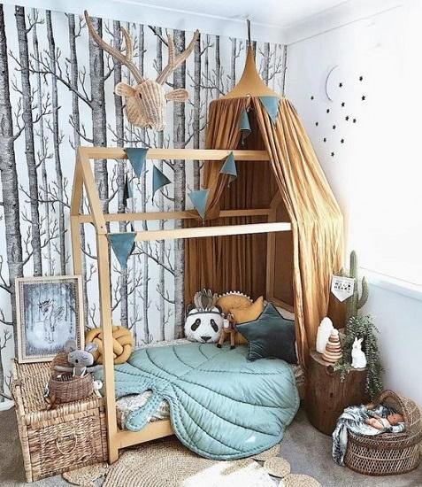 Chambre enfant déco forêt