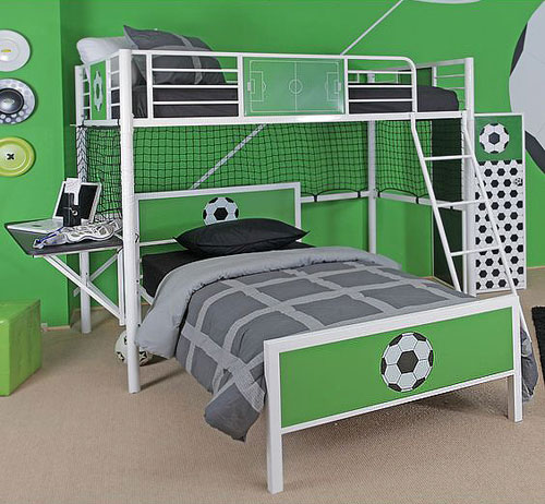 coupe du monde de football 10 inspirations d co pour une chambre d enfant habitatpresto. Black Bedroom Furniture Sets. Home Design Ideas
