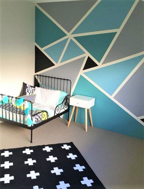peinture chambre d 39 enfant 10 peintures originales et tendances. Black Bedroom Furniture Sets. Home Design Ideas