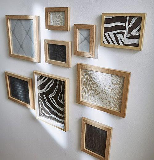 Deco chute papier peint - cadre