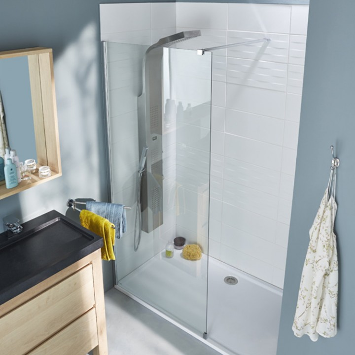 Installer paroi de douche elegant parois en verre - Comment installer un rideau de douche ...