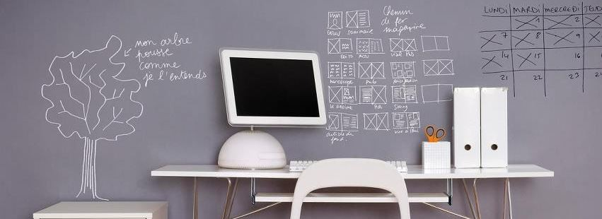 la peinture tableau blanc effa able le guide habitatpresto. Black Bedroom Furniture Sets. Home Design Ideas
