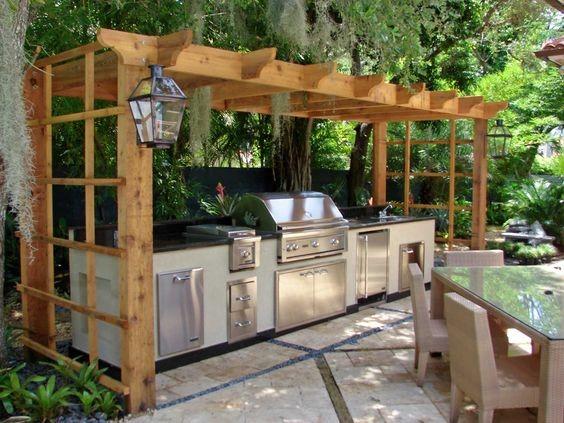 15 idées d'aménagement de cuisine d'été | habitatpresto - Amenager Une Cuisine Exterieure