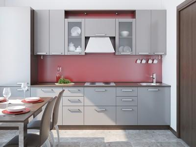 Cuisine en u cuisine en l cuisine en g ou cuisne en i habitatpresto - Cuisine sur un pan de mur ...