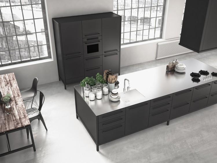 choisissez des meubles noirs pour la cuisine. Black Bedroom Furniture Sets. Home Design Ideas