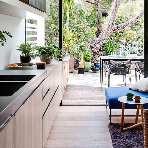 cuisine sur jardin