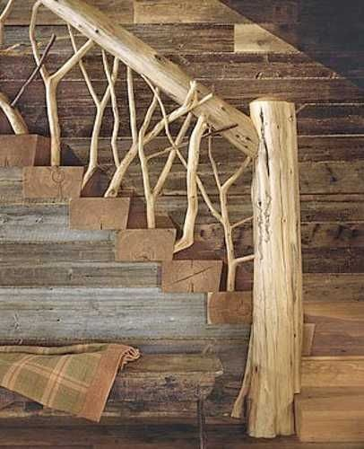 Inspiration d co style chalet de montagne habitatpresto - Escaleras rusticas de interior ...