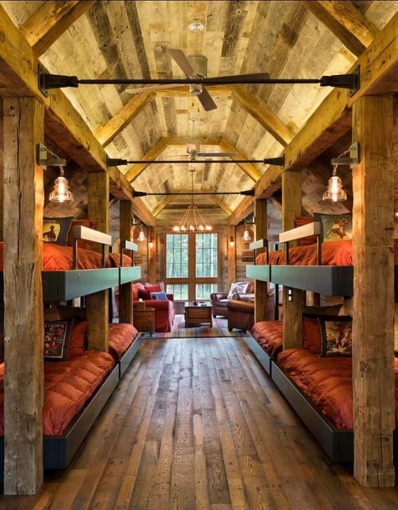 cool attic remodels - Inspiration déco style chalet de montagne