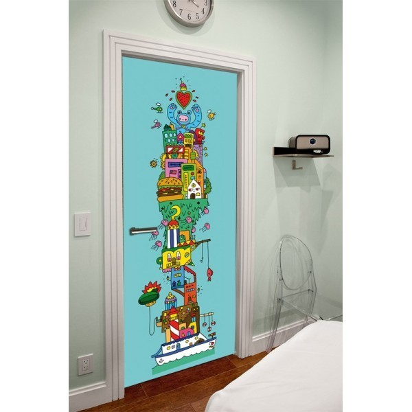 3 id es d co pour relooker vos portes int rieures for Decoration porte interieure poster sticker