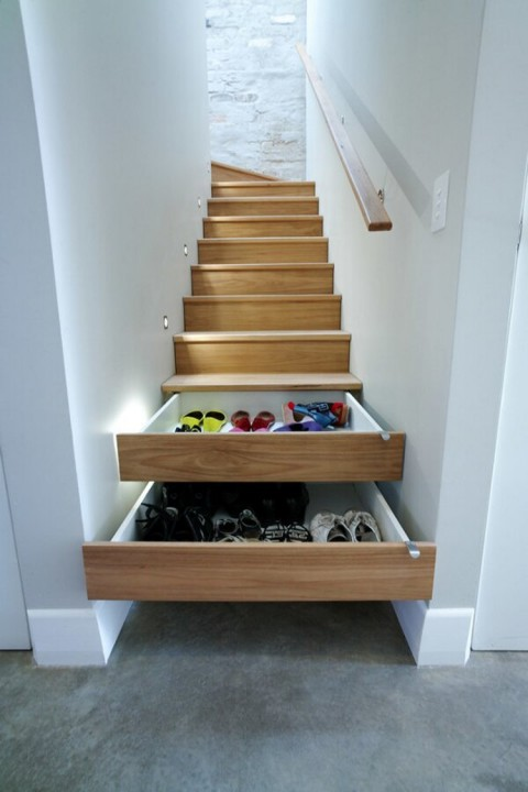 escalier tiroir