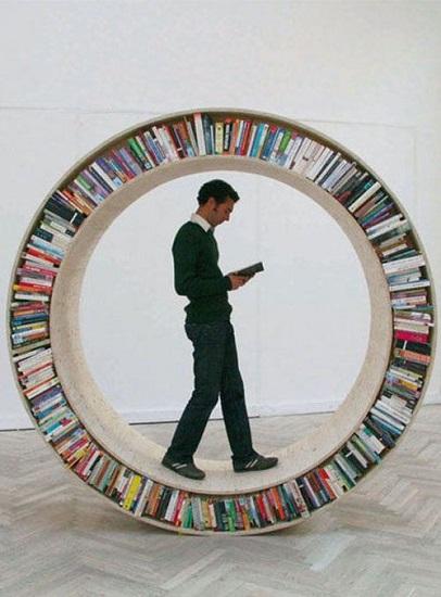 Etagère circulaire pour les livres