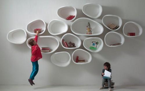 Inspirations rangements muraux tag res habitatpresto - Etageres murales rondes ...