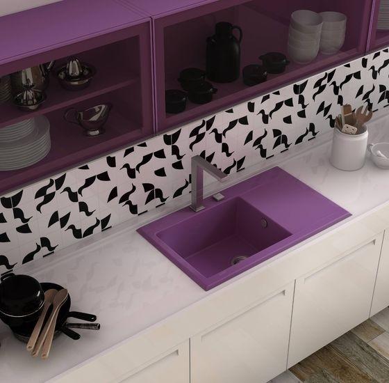choisir un vier de couleur pour la cuisine habitatpresto. Black Bedroom Furniture Sets. Home Design Ideas
