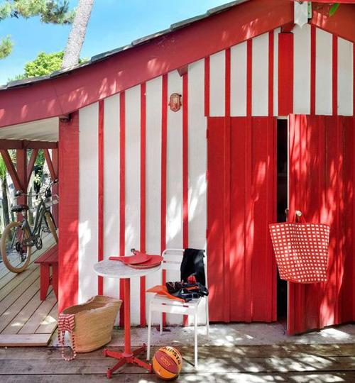 Cabane rouge basque