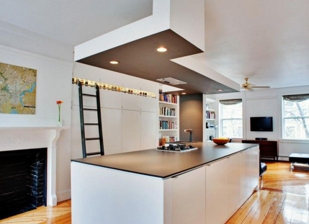 Thin Countertop Options : Renover et decorer avec des faux plafonds Habitatpresto