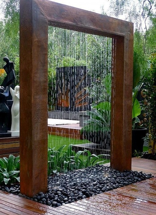 Décorer le jardin avec fontaines & cascades | Habitatpresto