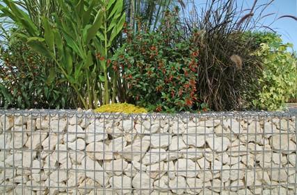 gabion aménagement jardin