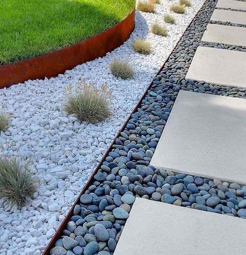 galets d coratifs d ext rieur 5 id es d co pour le jardin. Black Bedroom Furniture Sets. Home Design Ideas