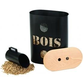Po le bois stocker vos granul s et pellets habitatpresto - Rangement pour bois de chauffage interieur ...