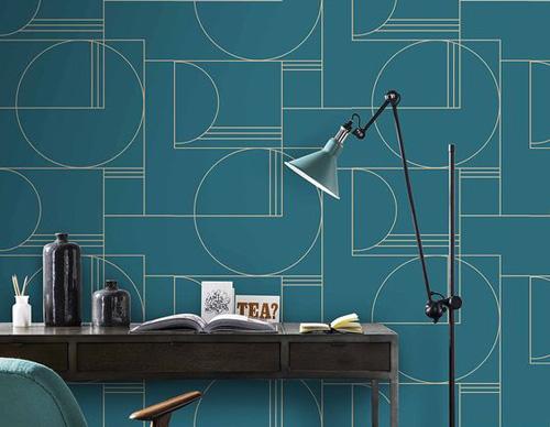 Mur avec motifs graphiques