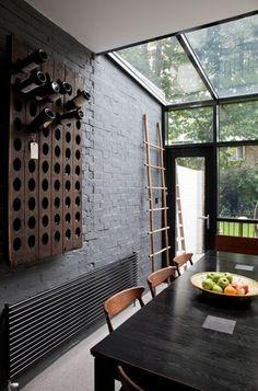 décoration mur en brique intérieur