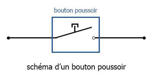 Schéma d'un circuit de bouton poussoir