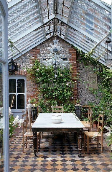jardin intérieur maison véranda appartement